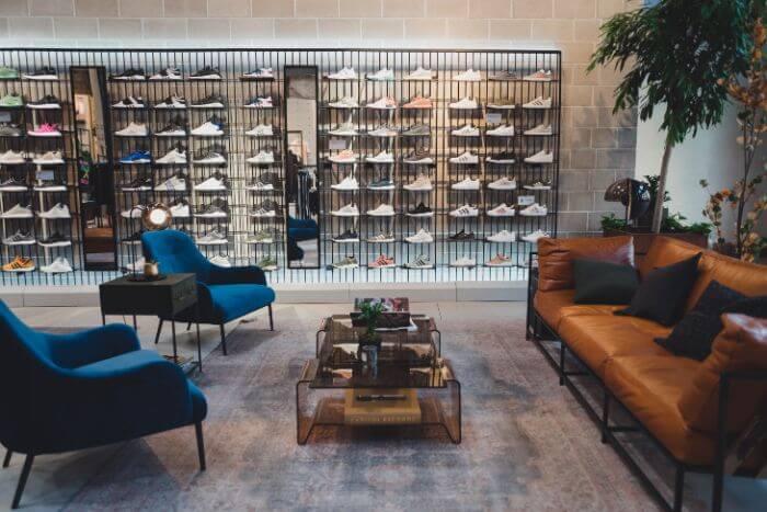 elegant shoe shop